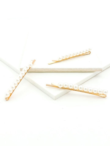 Rectangle Wood Splice Hair Clip SET OF 2 (6 Different Colors Available)