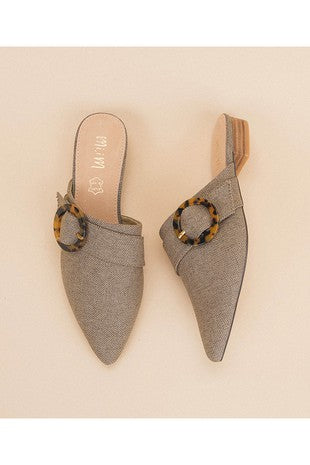 pointed flats mules