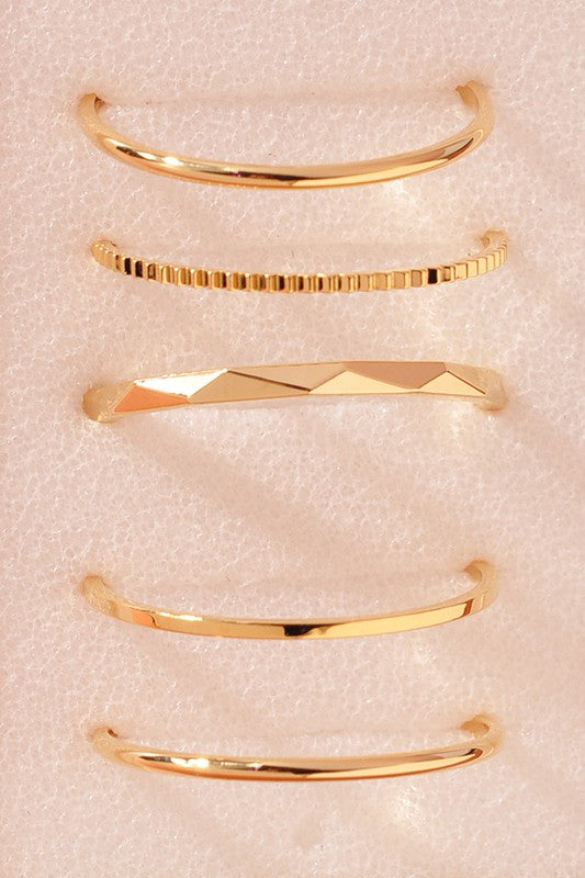 gold minimalist ring set