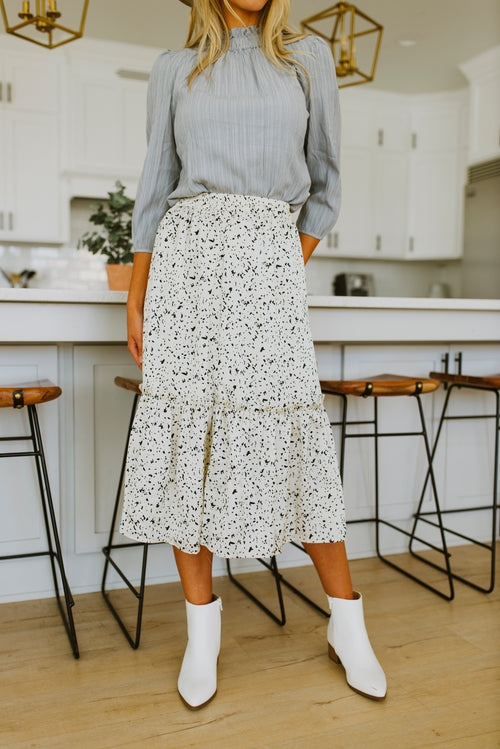 fall outfits, midi skirt outfit, silky tiered midi skirt, fall outfits, skirts, skirts outfits, midi skirt, silk skirt, dotted midi skirt, silky midi skirt, fashion, outfit ideas, midi skirt outfit fall, outfit ideas, outfits, cute fall outfits, modest midi skirt, polka dot midi skirt, dotted midi skirt, family photo outfits