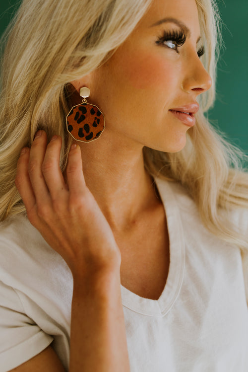 boutique, earrings, jewelry, leopard earrings, gold jewelry, leopard print, everyday earrings, outfit ideas, outfits, animal print, cute earrings, gold, earring, leopard drop earrings, trendy outfits, casual outfits, date night outfit, teacher outfits, school outfits, teenager outfits, cute jewelry, drop earrings, animal print earrings, gold earrings, trendy earrings, spring, college outfits, brown animal print earrings, preppy outfits, teen outfits, outfits for school, 2000s fashion, dinner date outfit