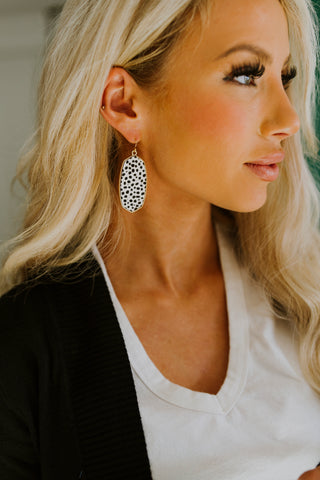 Cream Fringe Earrings
