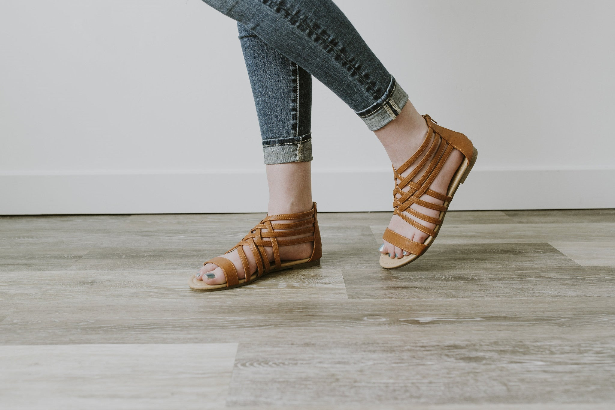 Cognac Tan Sandals