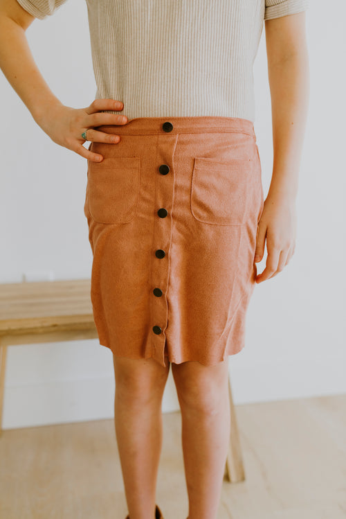 Suede Midi Skirt (GIRLS)