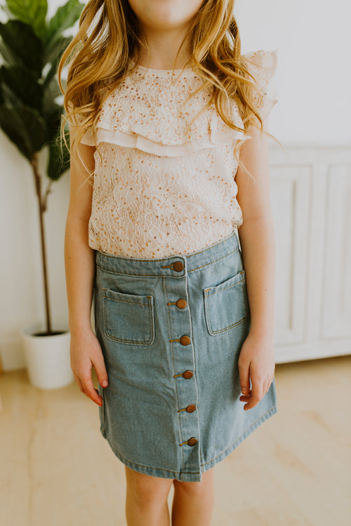 Denim Midi Skirt (GIRLS)
