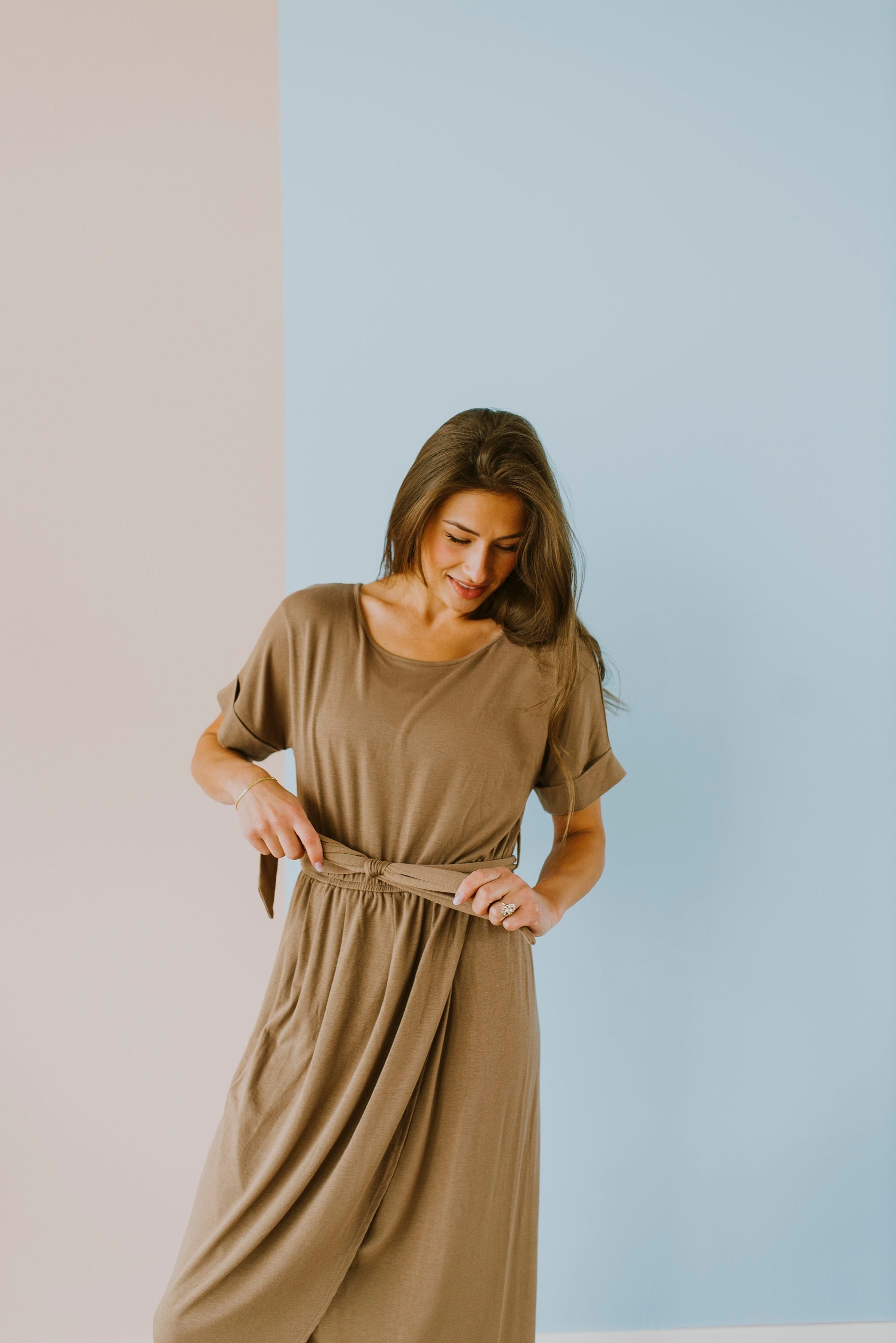 Short Sleeve Tulip Midi Dress, boutique, fall outfits, dresses, dress, brown dress, belted tulip dress, tulip style dresses, tulip midi dress, belted short sleeve tulip dress, mocha midi tulip dress, outfit ideas, belted tulip style dress, modest fashion, outfits, mocha dress, cute fall outfits, modest fashion, fall outfits 2020, 2020 fall fashion trends, fall 2020 fashion trends, 2020 fall fashion, fall fashion outfits