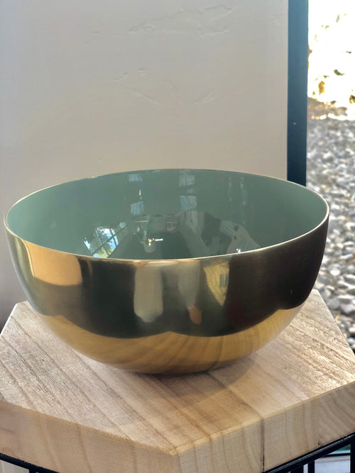 Gold and Teal Bowl