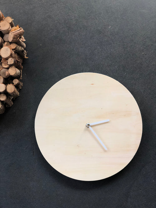Natural Wood Clock
