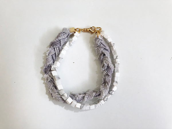Eco friendly bracelet made with our fabric in San Francisco.