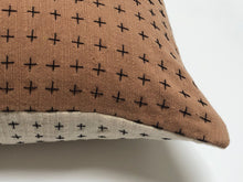 Reversible Pillow Natural & Brown 18x18in