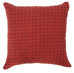 Reversible Pillow Madder & Mustard 18x18in