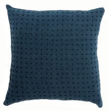 Reversible Pillow Natural & Indigo 18x18in