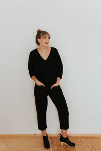 Black & Indigo Jumpsuit