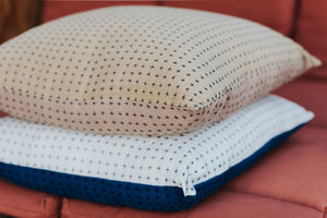 Reversible Pillow Mustard & Himalayan 18x18in