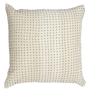 Reversible Pillow Natural & Indigo 28x28in