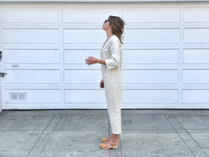 Cream Jumpsuit