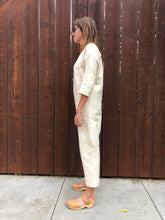 Cream Textured Jumpsuit