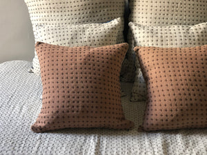 Reversible Pillow Natural & Himalayan 18x18in