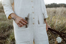 White Textured Jumpsuit