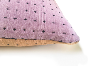 Reversible Pillow Himalayan & Lavender 18x18in