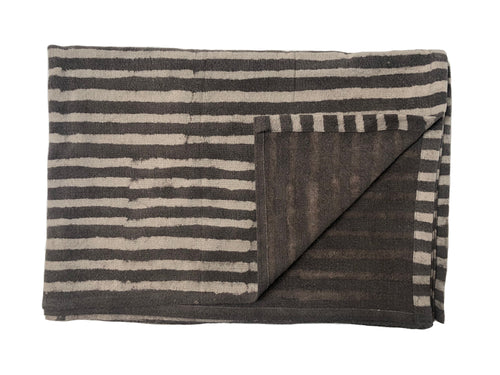 Grey Stripe Throw
