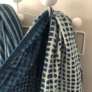 Indigo Check Throw