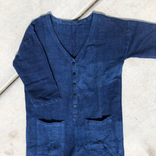 Indigo Textured Jumpsuit