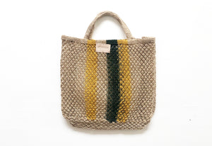 Macrame Rainbow shopper #3