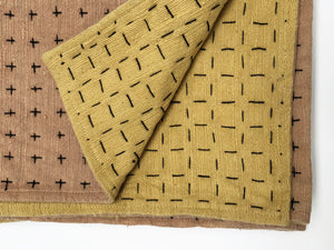 Throw himalayan & mustard 75x55in