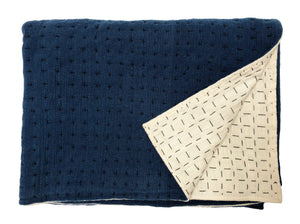 Throw natural & indigo 2 sizes