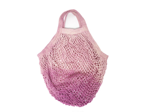 Lavender string market bag