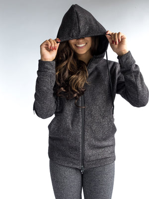 Women's Adventure Zip Hoodie - Dark Heather