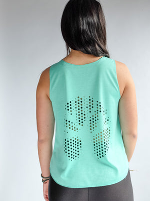 Womens Tree of Life Tank - Teal