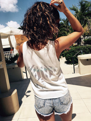 Womens Elephant Tank - White
