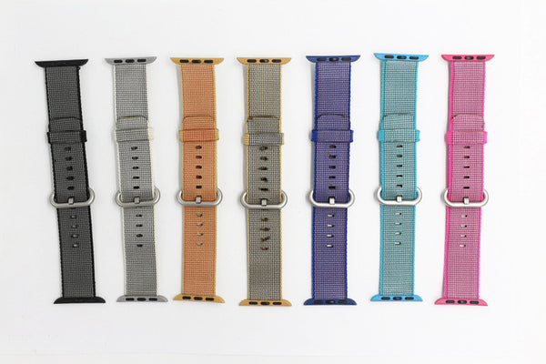 Woven nylon band, colorful pattern with classic buckle, compatible with Apple Watch - Compatible with Apple watch bands and accessories