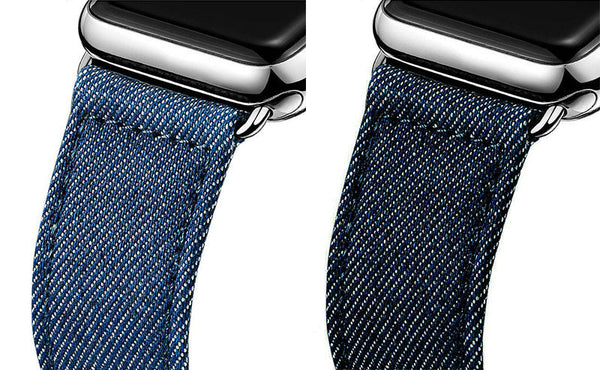 Jeans band for Apple Watch with classic buckle 38mm 42mm - Apple watch bands and accessories