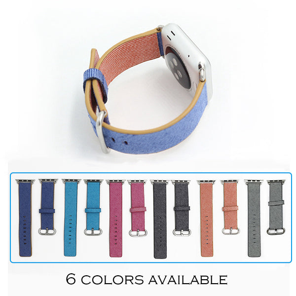 Nylon colorful band with classic buckle and adapters for Apple Watch - Apple watch bands and accessories