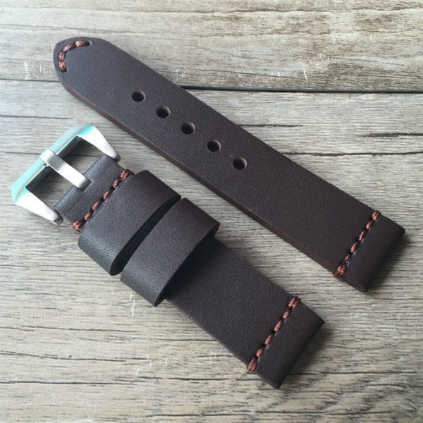 Panerai style band with high quality leather, compatible with Apple Watch - Compatible with Apple watch bands and accessories