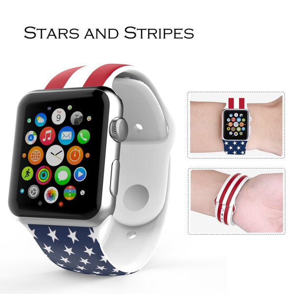 Sport silicone colorful strap compatible with Apple Watch - Compatible with Apple watch bands and accessories