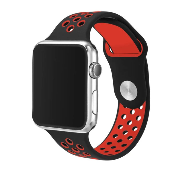 Flexible breathable silicone sport band (new colors) compatible with 38mm/42mm Apple Watch - Compatible with Apple watch bands and accessories
