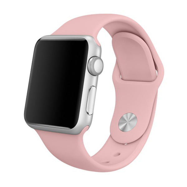 Sport strap fluoroelastomer with a pin-and-tuck closure - Compatible with Apple watch bands and accessories