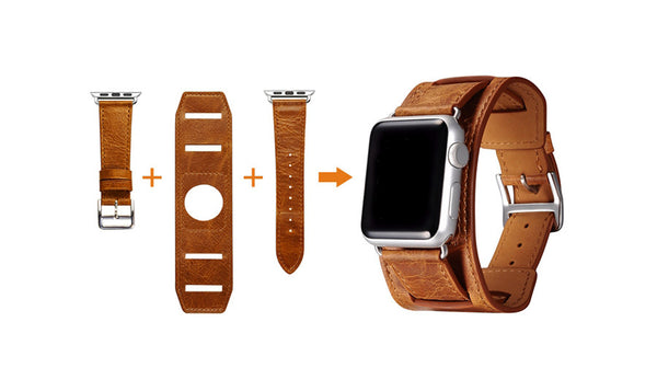 High quality genuine vintage leather loop 3 types in 1 set, compatible with Apple Watch - Compatible with Apple watch bands and accessories