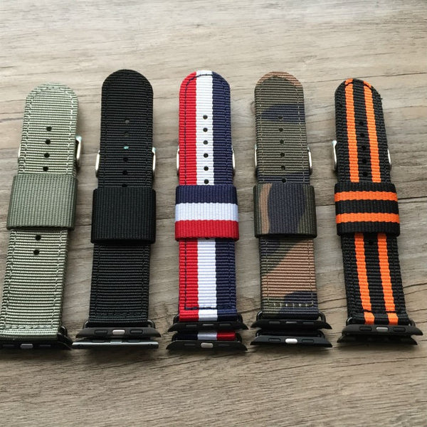 Premium nylon watch band compatible with 38MM / 42MM Apple Watch - Compatible with Apple watch bands and accessories