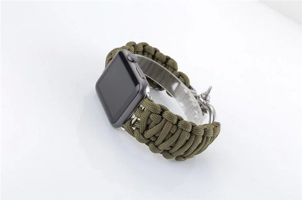 Woven rope band compatible with 38/42mm Apple Watch - Compatible with Apple watch bands and accessories