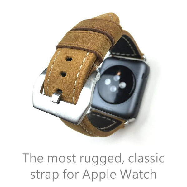 Special design leather watch strap compatible with 38MM / 42MM  Apple Watch (Man / Women) - Compatible with Apple watch bands and accessories