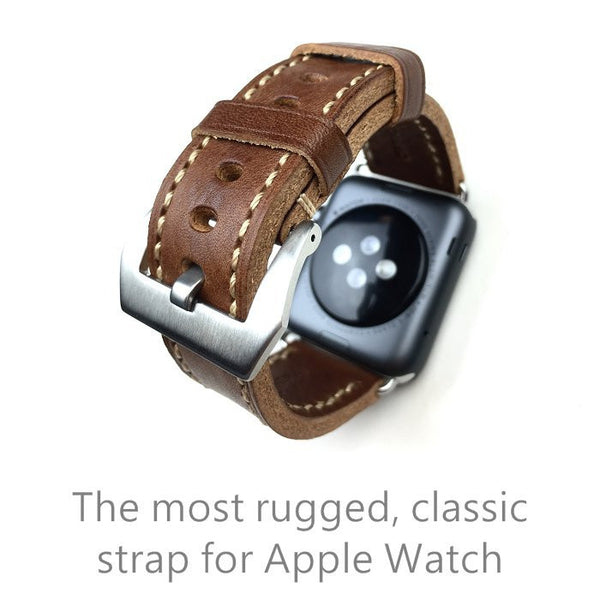 Handmade leather band, special design leather, compatible with 38MM / 42MM  Apple Watch - Compatible with Apple watch bands and accessories