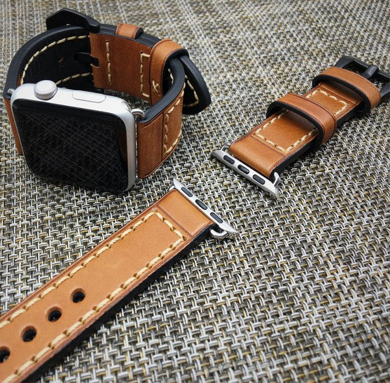 Handmade leather band, compatible with 38MM / 42MM  Apple Watch - Compatible with Apple watch bands and accessories