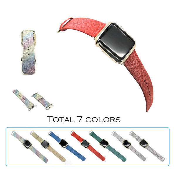 Bling glisten twinkle band with Classic buckle, compatible with 38MM / 42MM  Apple Watch - Compatible with Apple watch bands and accessories