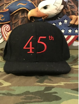 45th Hat (Black)