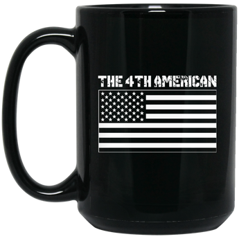 The 4th American Flag 15 oz. Black Mug